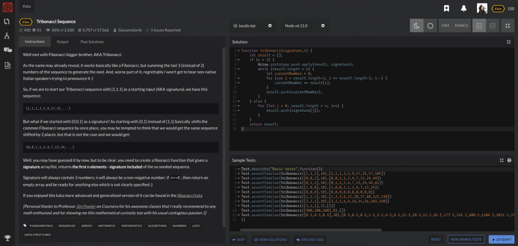Codewars_Screenshot